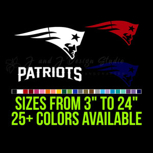 New England Patriots Vinyl Decal