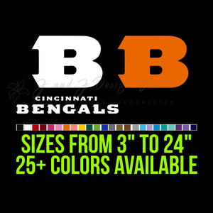 Cincinnati Bengals Vinyl Decal