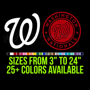 Washington Nationals Vinyl Decal