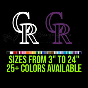 Colorado Rockies Vinyl Decal