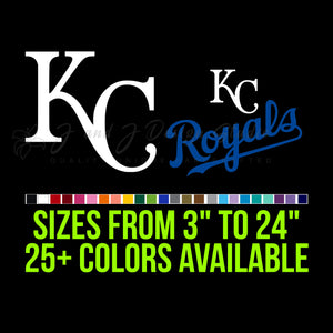 Kansas City Royals Vinyl Decal