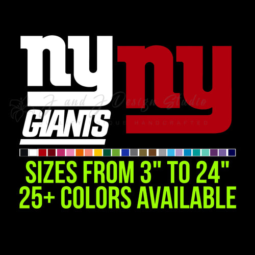 New York Giants Vinyl Decal