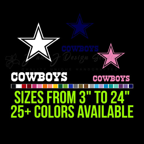 Dallas Cowboys Vinyl Decal