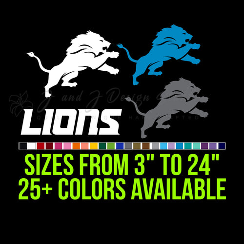 Detroit Lions Vinyl Decal