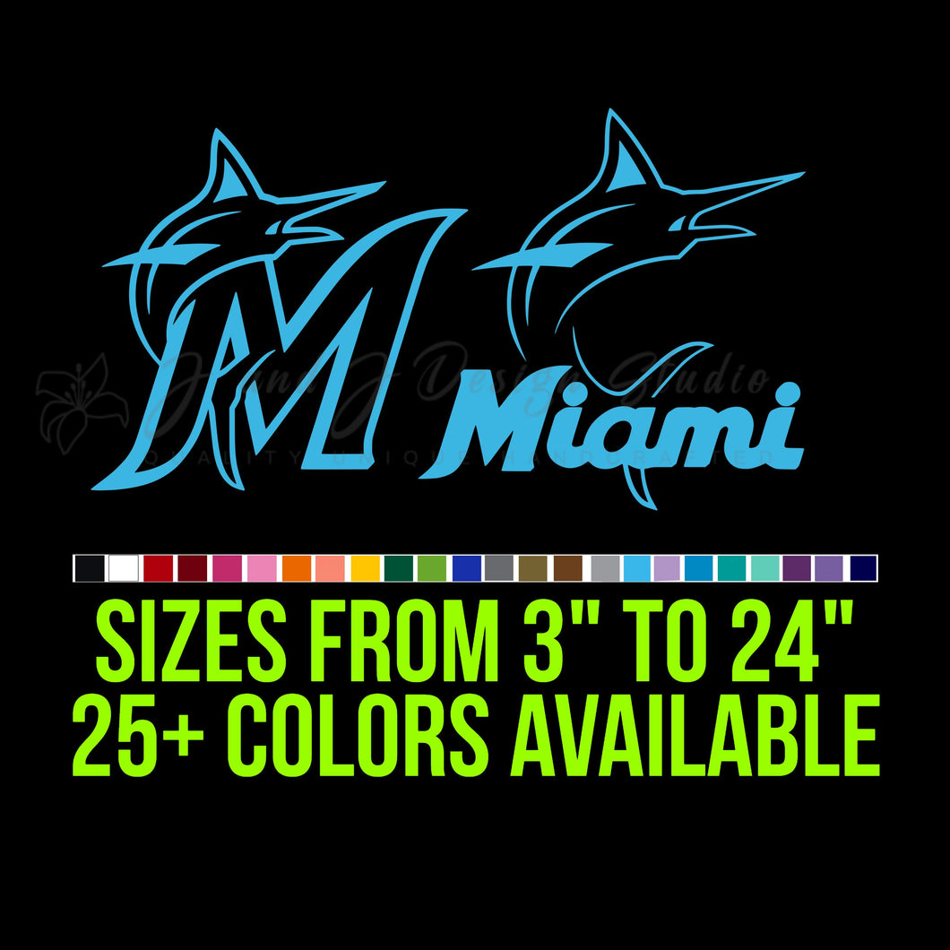Miami Marlins Vinyl Decal