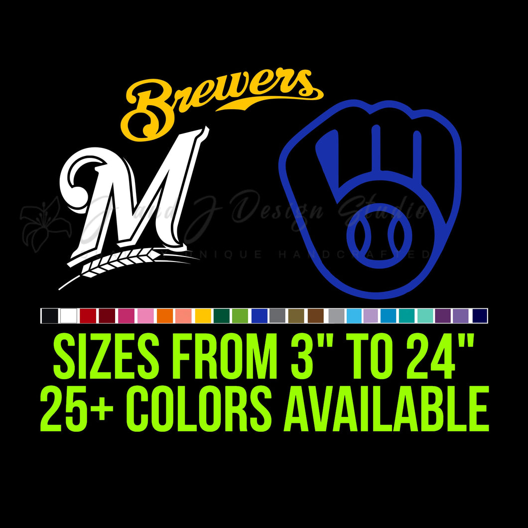 Milwaukee Brewers Vinyl Decal