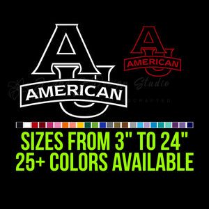American University Eagles Vinyl Decal