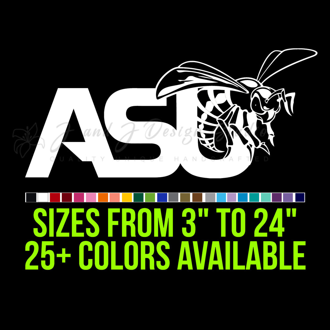 Alabama State Hornets Vinyl Decal
