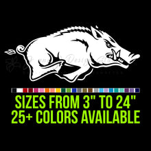 Load image into Gallery viewer, Arkansas Razorbacks Vinyl Decal