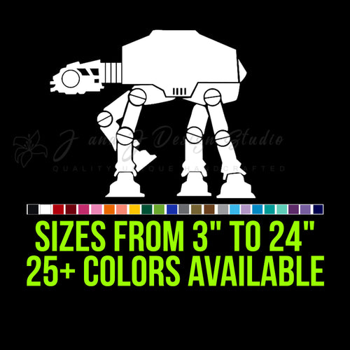 Star Wars AT-AT Vinyl Decal