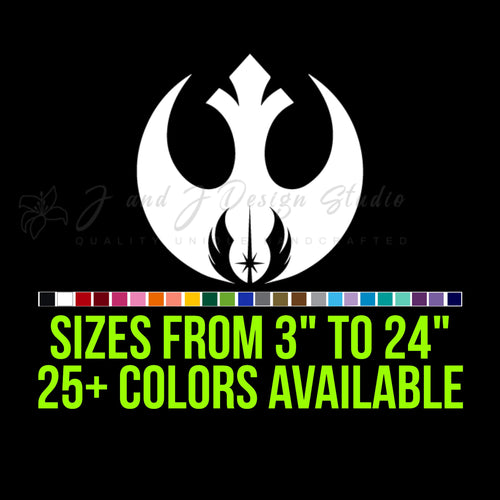 Star Wars Rebel Jedi Vinyl Decal