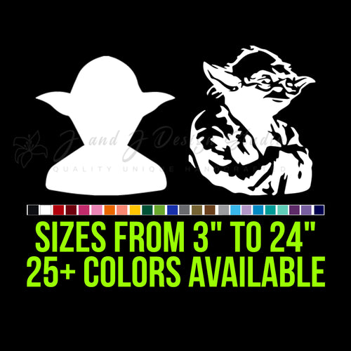 Star Wars Yoda Vinyl Decal