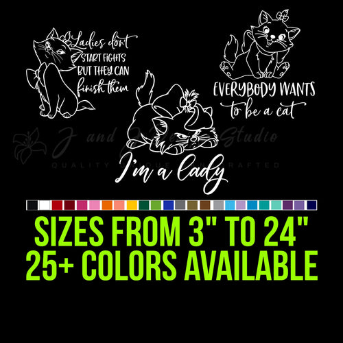 Aristocats Vinyl Decal