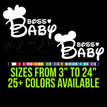 Load image into Gallery viewer, Disney Boss Baby Vinyl Decal