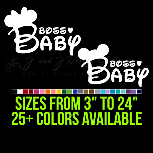 Disney Boss Baby Vinyl Decal