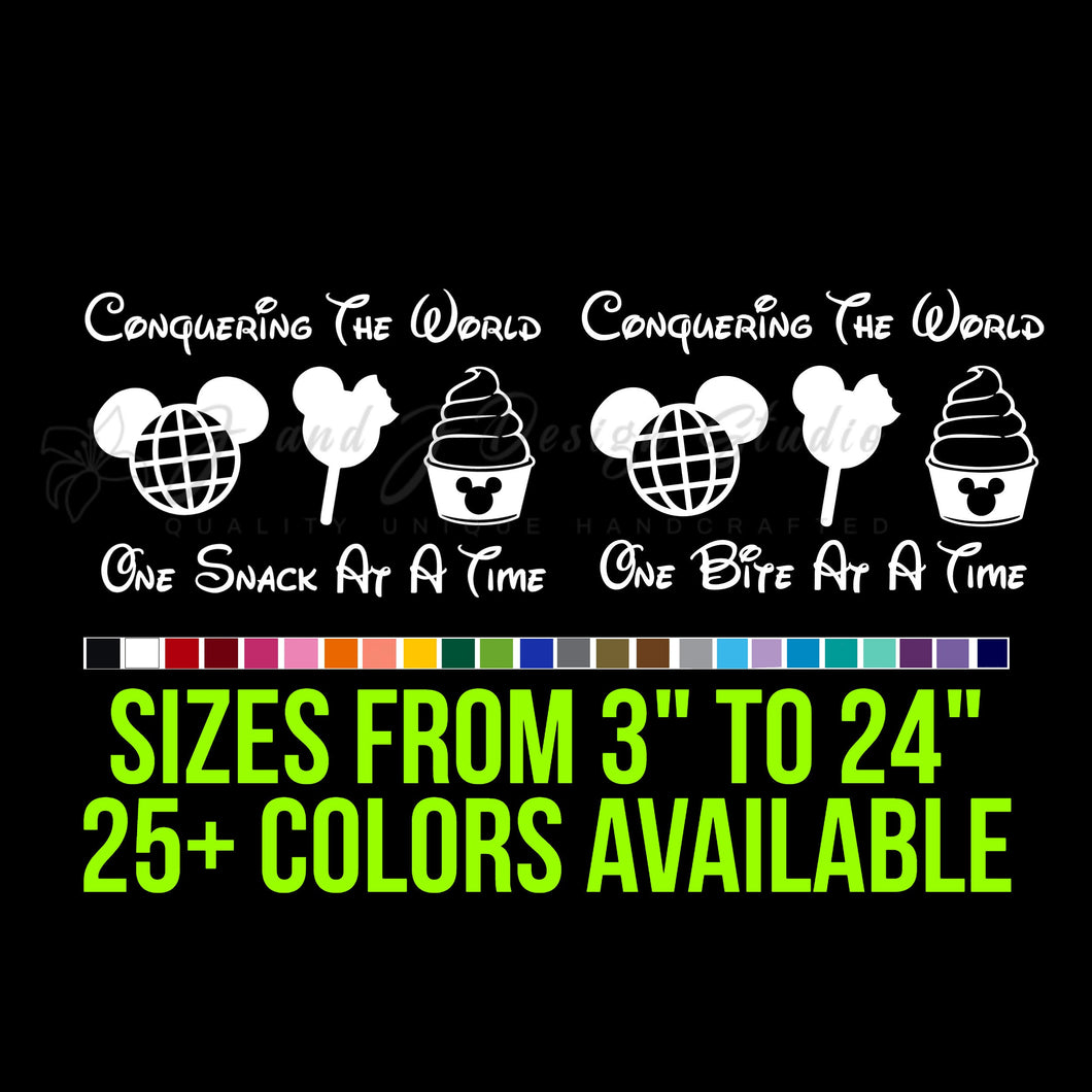 Disney desserts Vinyl Decal