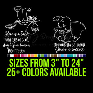 Dumbo Vinyl Decal