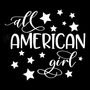 All American Girl Vinyl Decal