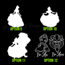 Load image into Gallery viewer, Beauty And beast Vinyl Decal