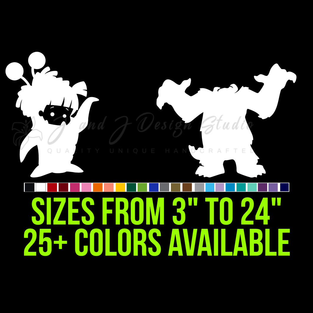 Monsters Inc. Vinyl Decal