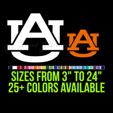 Auburn Tigers Vinyl Decal