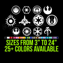 Load image into Gallery viewer, Star Wars Sigils Vinyl Decal