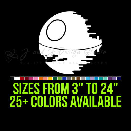Star Wars Death Star Vinyl Decal