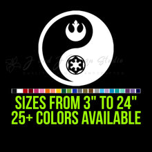 Load image into Gallery viewer, Star Wars Rebel Empire Yin Yang Vinyl Decal