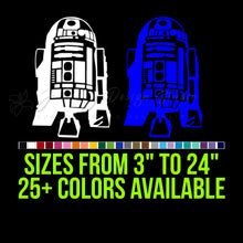 Load image into Gallery viewer, Star Wars R2D2 Vinyl Decal