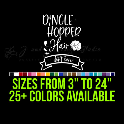 Dingle-Hopper hair  Vinyl Decal
