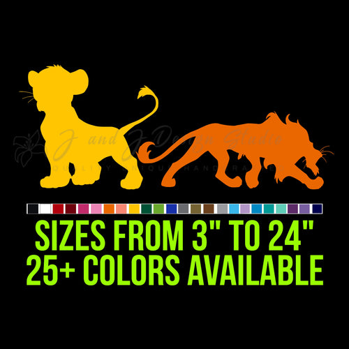 Lion King Vinyl Decal