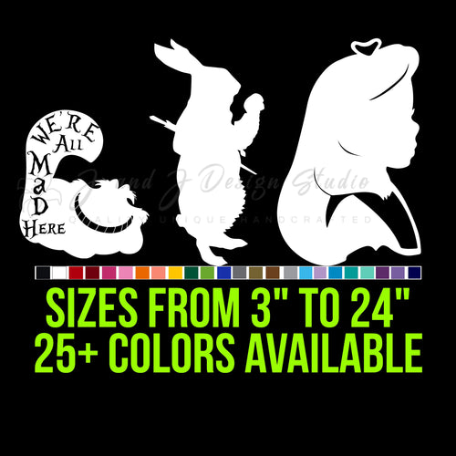 Alice In Wonderland Vinyl Decal
