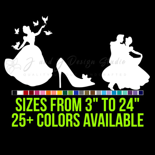 Cinderella Vinyl Decal