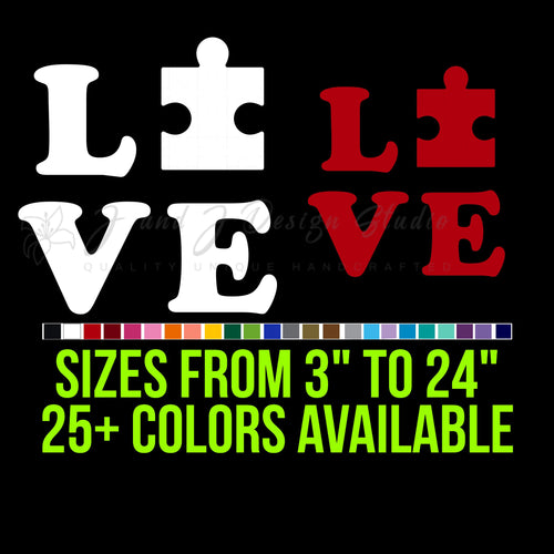 Love autism Vinyl Decal