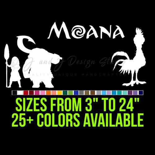 Moana Vinyl Decal