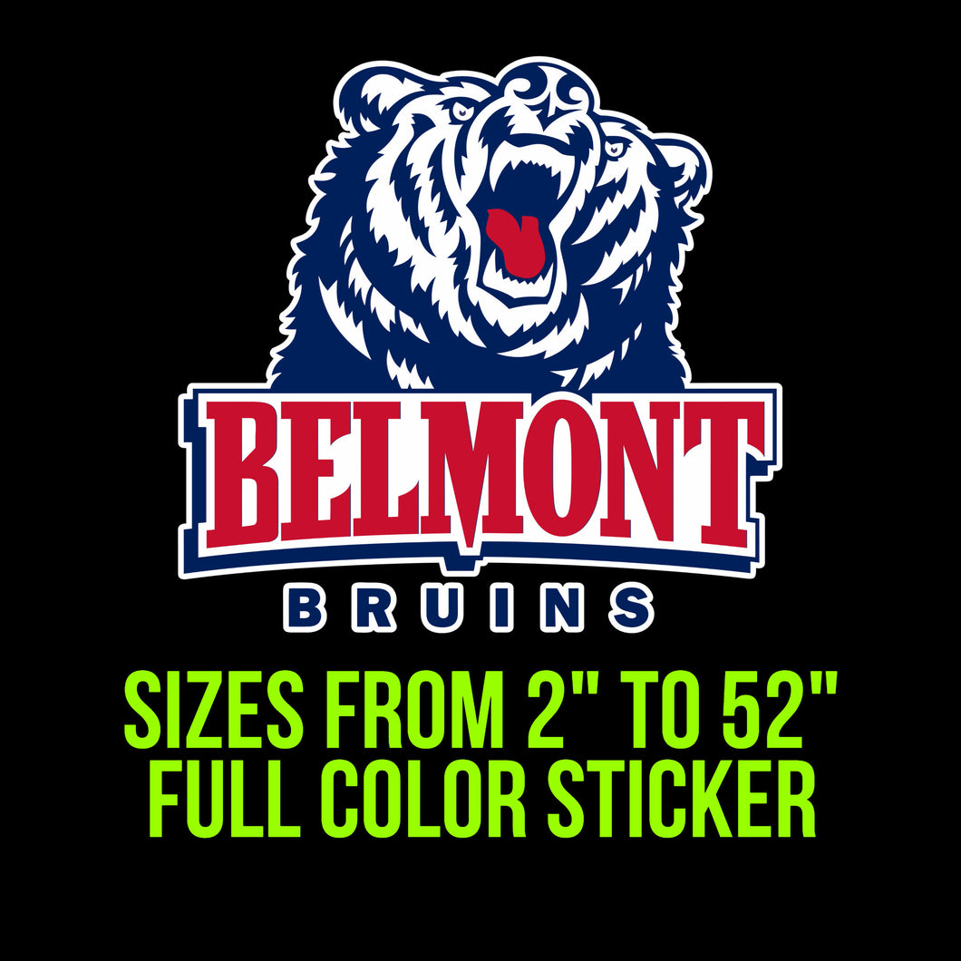Belmont Bruins Vinyl Decal