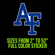 Load image into Gallery viewer, Air Force Falcons Vinyl Decal | Hydroflask decal | Yeti Decal | Laptop Decal | Cell phone Decal | Vinyl Car Decal | Cornhole Decal
