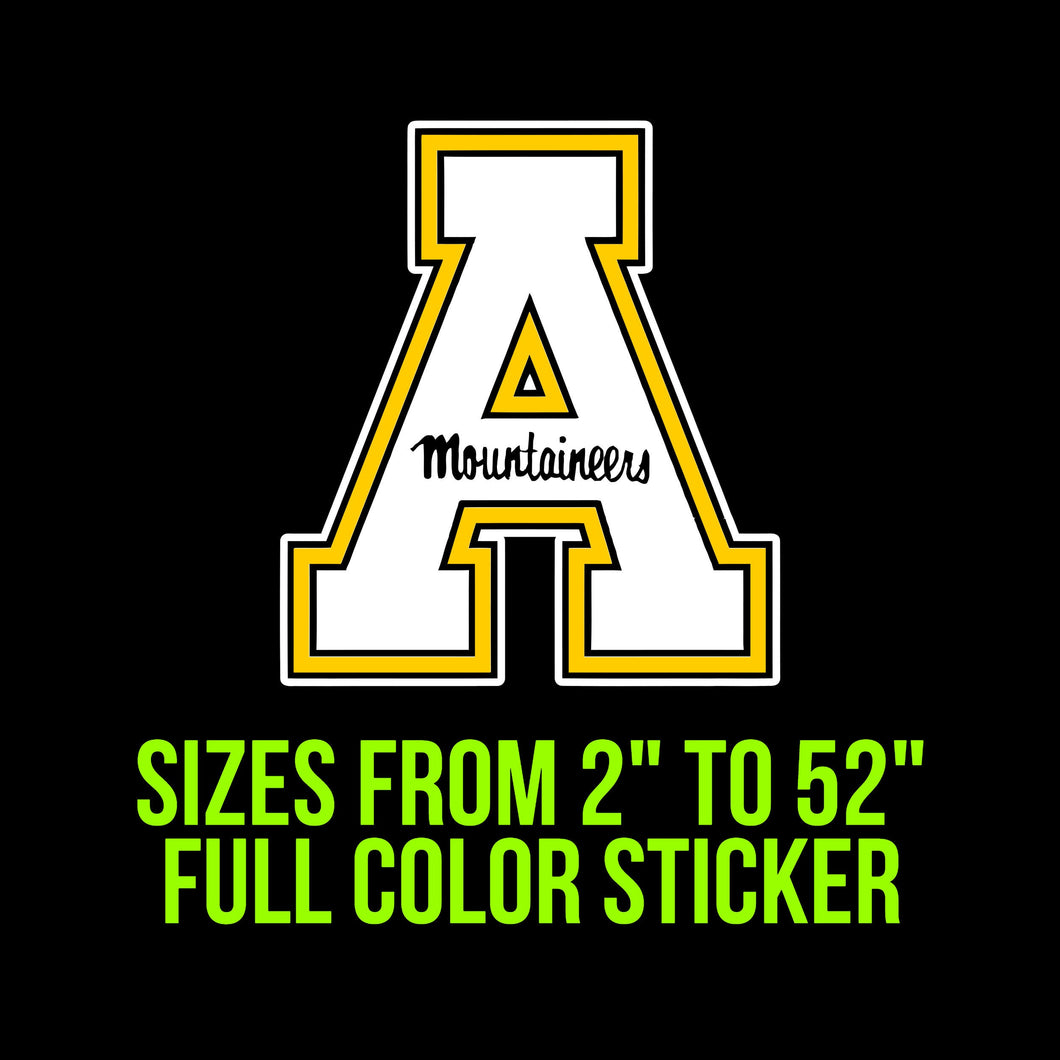 Appalachian State Mountaineers Vinyl Decal