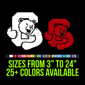 Cornell Big Red Decal | Hydroflask decal | Yeti Decal | Laptop Decal | Cell phone Decal | Vinyl Car Decal | Cornhole Decal