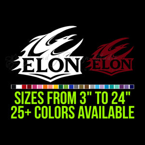 Elon Phoenix Vinyl Decal | Hydroflask decal | Yeti Decal | Laptop Decal | Cell phone Decal | Vinyl Car Decal | Cornhole Decal