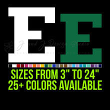 Load image into Gallery viewer, Eastern Michigan Eagles Vinyl Decal | Hydroflask decal | Yeti Decal | Laptop Decal | Cell phone Decal | Vinyl Car Decal | Cornhole Decal