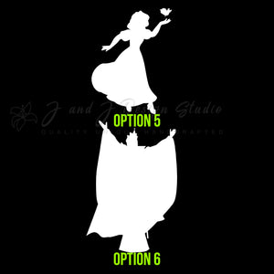 Snow white Vinyl Decal | Hydroflask decal  | Cell phone Decal | Vinyl Car DecalLaptop Decal | Hydroflask Decal  | Cell Phone Decal