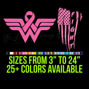 Breast Cancer Vinyl Decal | Hydroflask decal  | Cell phone Decal | Vinyl Car DecalLaptop Decal | Hydroflask Decal  | Cell Phone Decal