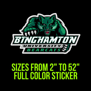 Binghamton Bearcats Vinyl Decal