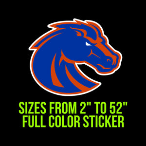 Boise State Broncos Vinyl Decal | Hydroflask decal | Yeti Decal | Laptop Decal | Cell phone Decal | Vinyl Car Decal | Cornhole Decal