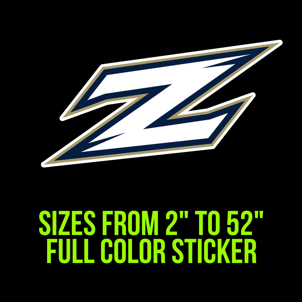 Akron Zips Vinyl Decal | Hydroflask decal | Yeti Decal | Laptop Decal | Cell phone Decal | Vinyl Car Decal | Cornhole Decal