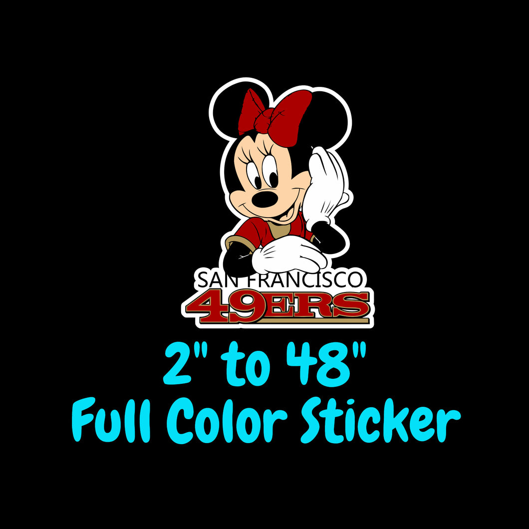San Francisco 49ers Full Color Vinyl Sticker ; Hydroflask decal ; Laptop Decal ; Yeti Decal Cell phone Decal Cornhole Decal Vinyl Car Decal