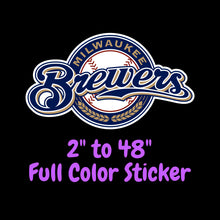 Load image into Gallery viewer, Milwaukee Brewers  Full Color Vinyl Sticker ; Hydroflask decal ; Laptop Decal ; Yeti Decal Cell phone Decal Cornhole Decal Vinyl Car Decal