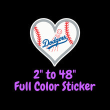 Load image into Gallery viewer, Los Angeles Dodgers Full Color Vinyl Sticker ; Hydroflask decal ; Laptop Decal ; Yeti Decal Cell phone Decal Cornhole Decal Vinyl Car Decal