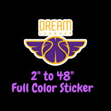 Load image into Gallery viewer, Los Angeles Lakers Full Color Vinyl Sticker ; Hydroflask decal ; Laptop Decal ; Yeti Decal Cell phone Decal Cornhole Decal Vinyl Car Decal